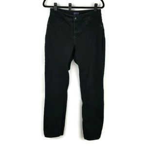 NYDJ size 6 pants black stretch high rise jeans